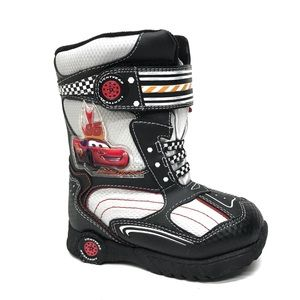 DISNEY Cars Black & Red Snow Boots 8